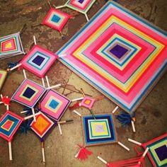 Crafts we did as kids - God's Eye, lanyard stitch - website includes tutorials