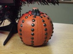Modern Studded pumpkin - #TYP entry in #plaidcrafts 4th Annual Trick Your Pumpkin craft contest! www.TrickYourPumpkin.com
