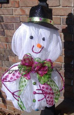 Christmas Wreath  SNOWMAN WREATH  Deco Mesh by HomeTownHolidays, $49.00