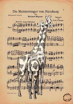 I love these giraffes