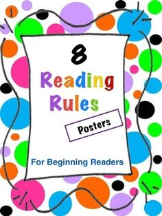 Free Download: 8 Reading Rules Posters for Beginning Readers