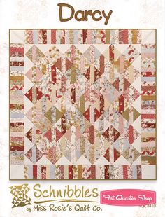 Darcy Schnibbles Charm Pack Pattern Miss Rosies Quilt Company Schnibbles Pattern #RQC-410 - Fat Quarter Shop