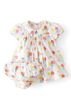 Mini Boden 'Pretty Printed' Tea Dress (Baby Girls) available at #Nordstrom