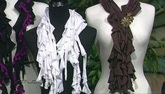 No-sew T-shirt scarves