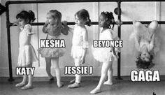 ♪♩♭◥ Baby Lady Gaga, Katy Perry, Kesha, Beyonce, and Jessie J---- funny pictures hilarious jokes meme humor walmart fails