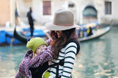 mommy and baby street style