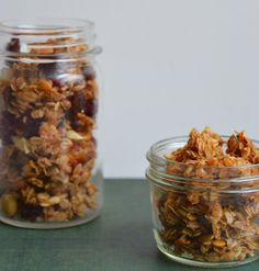 Homemade Granola. Easy to make and a perfect snack!