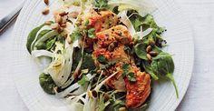 Spinach Salad WIth Harissa-Spiced Chicken
