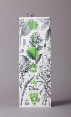 Vila Florida Restaurant Barcelona graphic design by Lo Siento Studio, Barcelona
