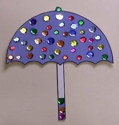 Sequin Umbrella ... so cute and great for fine motor.