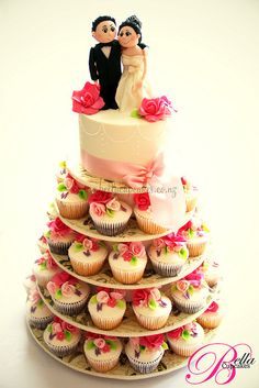 Romance Cupcake tower cupcak cake, romanc, pink roses, holiday lights, wedding cupcakes, cupcak tower, wedding cakes, cupcake cakes, cupcake towers