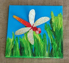 dragonfly art project idea with printable template