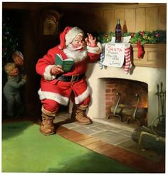 #santaclaus waiting by the #chimney on #christmaseve #Santaclauspictures http://www.fatherchristmasletters.co.uk/letter-from-santa.asp