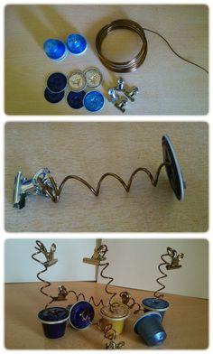 Con capsulas de cafe bisuteria e ideas on pinterest 215 pins - Presentoir capsules nespresso ...