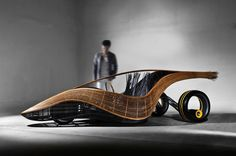Sustainable Concept Car Made of Handwoven Bamboo