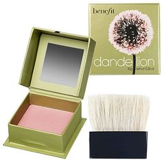 This brightening powder doubles as a blush. Use on fair skin. Benefit Dandelion.