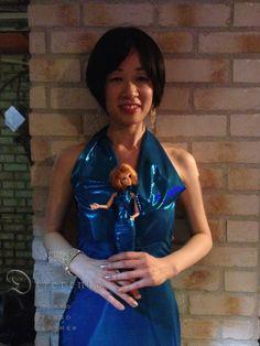 Japanese tango dancer Mis.Magi with doll.