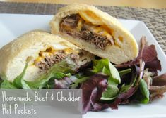 Homemade Beef and Cheddar Hot Pockets. If you get a craving for Arby's give these a try instead. Healthy comfort food