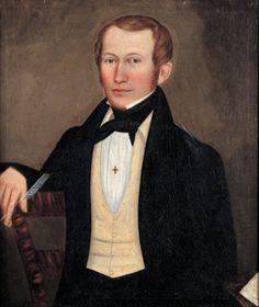 Artist: Erastus Salisbury Field Man holding Quill ca: 1835-1838