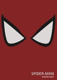 Minimalist Superhero Posters minimalist design, heroes, spiders, art, spiderman, spider man, minimal design, posters, superhero