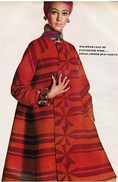 Marisa Berenson in a Forquet wrap style swing coat
