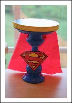 superhero party cake stand