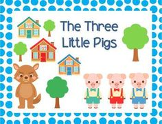 Freebie - A cute little abridged version of the Three Little Pigs.  The story is simplified to provide opportunity for the students to find the obvious grammatical features and narrative story structure..or just read for fun on your Smart Board!!  #free  #tpt #sarahanne #threelittlepigs