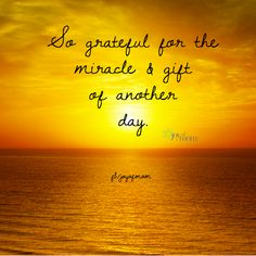 So grateful for the miracle & gift of another day. <3 More beautiful inspiration on Joy of Mom! <3 https://www.facebook.com/joyofmom  #quotes #inspiration #inspirationalquotes #joyofmom #miracle #gifts #goodmorning