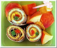 Healthy #breakfast ideas for kids -- Egg roll-ups with whole wheat tortillas - via @BabyCenter
