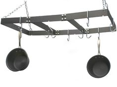 I have this metal Calphalon pot/pan rack. Very sturdy and big. Worth the price. I love it !