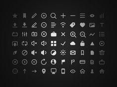 free psd, icon set, freeicon, 70 free, freebi, free icon, design, flat icons, robin kyland