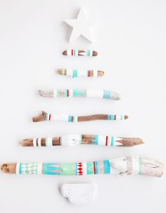 Wall stick Christmas Tree Art