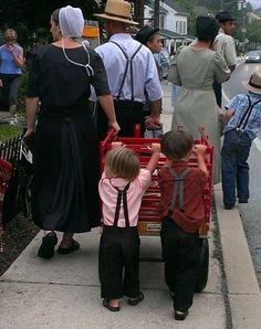 Only in Lancaster - PA Lovely family enjoying Churchtown Days festival...