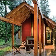 log/glass cabin