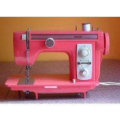 a pink sewing machine.