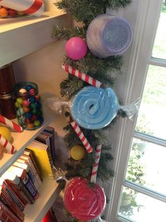 @tmemme28  makes glittery holiday gumdrop garland made of PVC pipes and pool noodles! #candy #garland #christmaskeepsake #christmas #DIY #homeandfamily #homeandfamilytv