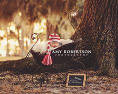 Amy Robertson Photography - newborn christmas photo
