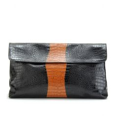 mytheresa.com - Dries Van Noten - CROCO-EMBOSSED LARGE CLUTCH - Luxury Fashion for Women / Designer clothing, shoes, bags