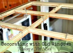 The 36th AVENUE | DIY Old Window Pot Rack