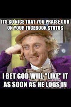 God on Facebook