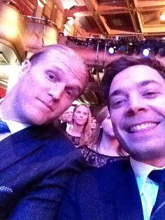 ~Clay Matthews and Jimmy Fallon at the NFL awards.