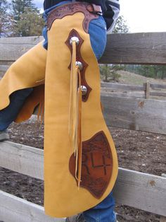 Western Tack, Chaps / Chinks - Whispering Leather Art - this is a good design