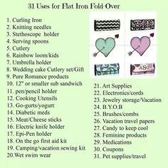 31 uses for Flat Iron Fold-Over
