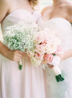 Baby's breath and rose bouquets | photography by http://claryphoto.com/