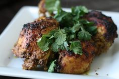 Roast Chicken with Indian Spice Rub and Raita