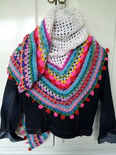 Colorful shawl. Love it!