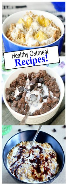 Healthy delicious oatmeal recipes from chocolate covered Katie
