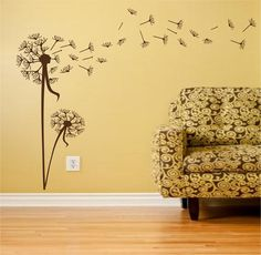 dandelion wall art