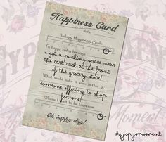 Happiness card sneak peek from #gypsymoments
