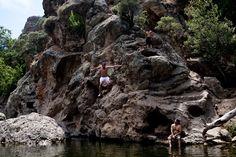 hike to cliff jumping just off malibu creek rd